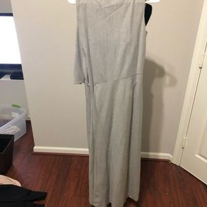 Jil Sander Grey Sleeveless Dress.